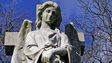 Victorian angel on grave
