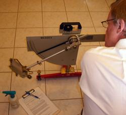 English: Pendulum floor friction tester