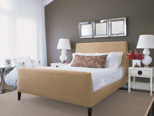 интерьер спальни фото 12 серый серо-бежевый и кофе с молоком
