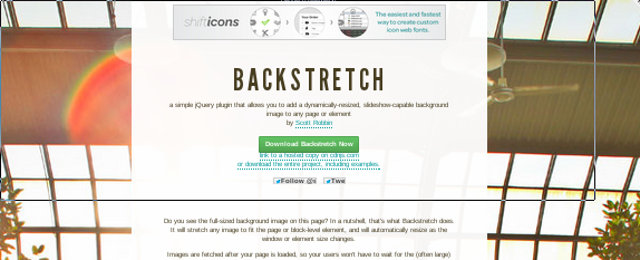 backstretch javascript jquery slider