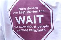 A group of organ recipients were in Market Square today to help spread the word about life-saving transplant procedures and to encourage people to become organ donors. (Video by Andrew Rush; 4/8/2014)