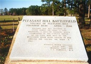 Marker denoting the location of the village of Pleasant Hill