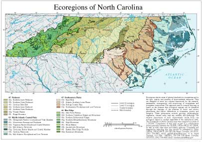 Level III and IV Ecoregions of North Carolina