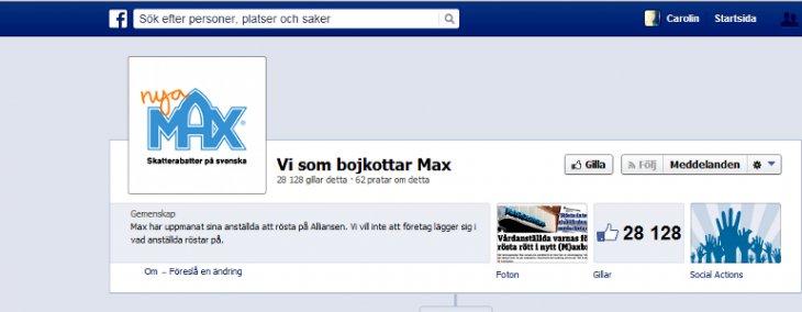 Vi som bojkottar Max