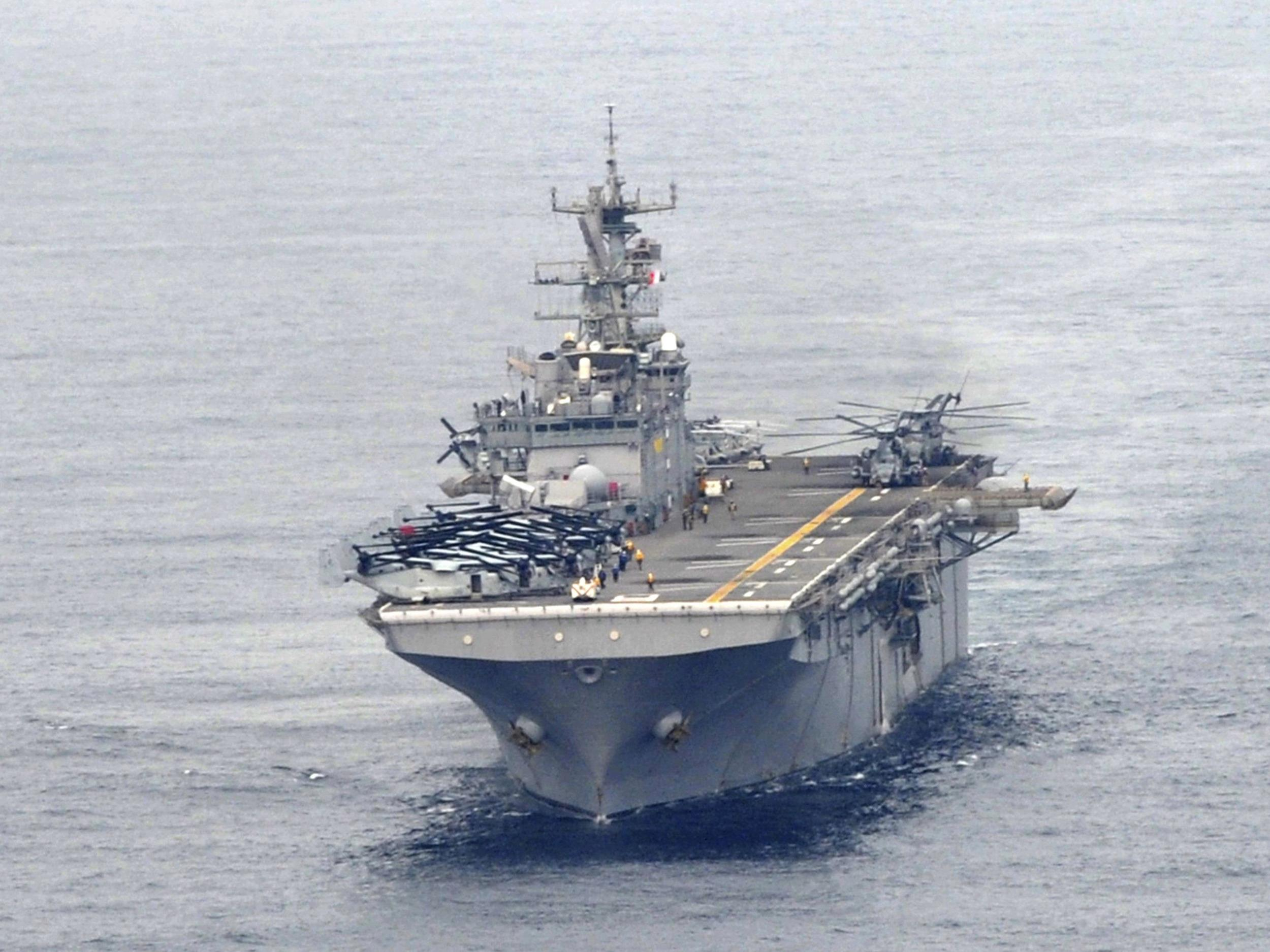 Image: The USS Bonhomme Richard LHD 6 sails in the sea off Pohang