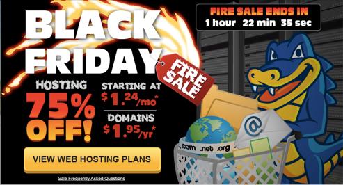 hostgator black friday 20131 HostGator cập nhật chương trình Black Friday, cơ hội giảm giá 75%