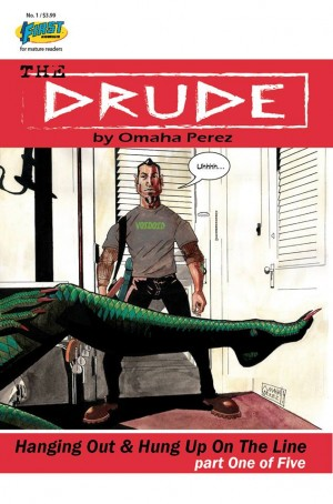 THE DRUDE is Boris Drude. Boris is 40 years old, living like he's 25, occasionally playing bass in a band, smoking a lot of pot, always looking for a new lady friend, no responsibilities – and perfectly happy. Unfortunately for Boris, he possesses supernatural abilities and trouble has a way of finding him… The Drude #1 By Omar Perez $3.99
