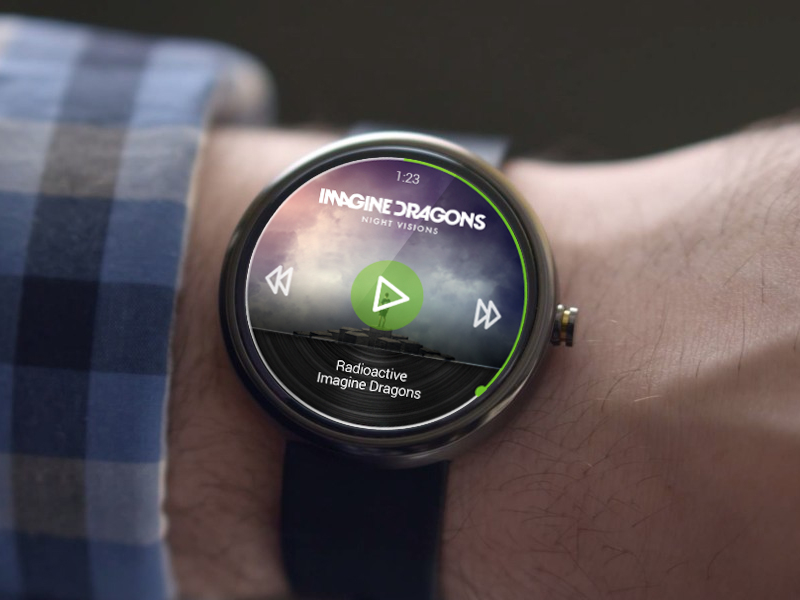 spotify wear 10 beautiful Moto 360 app concepts