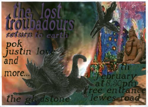 Lost Troubadours 27/02/08 poster