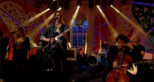 Andrew Hozier-Byrne performing 'From Eden' live.