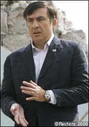 Saakashvili visits Gori
