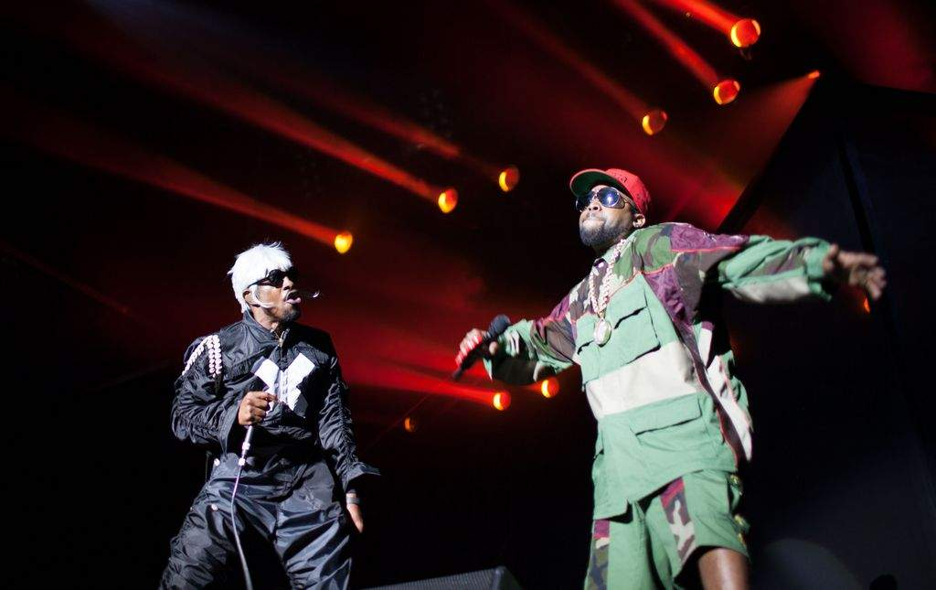Andre 3000, left, and Big Boi of Outkast are set to perform at the Big Guava Music Festival in Tampa. THE ASSOCIATED PRESS