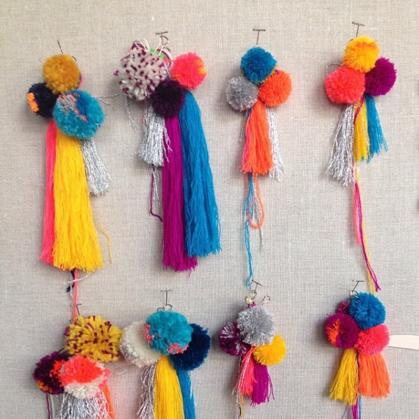 Pom-poms and tassels via ccommunity on Instagram