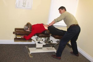 chiropractic decompression of a disc using the Cox table