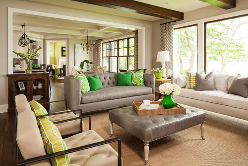 transitional living room Are you scared of color?