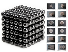 3mm Buckyballs Neocube Magnet Toy 216pc Set (Black)