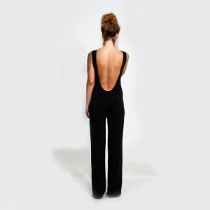 Evening Wear Black Jumpsuit Sexy Open Back1 300x300 Evening Wear Black Jumpsuit with Sexy Open Back