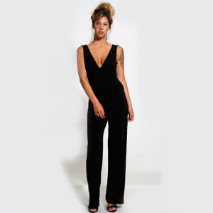Evening Wear Black Jumpsuit Sexy Open Back 300x300 Evening Wear Black Jumpsuit with Sexy Open Back