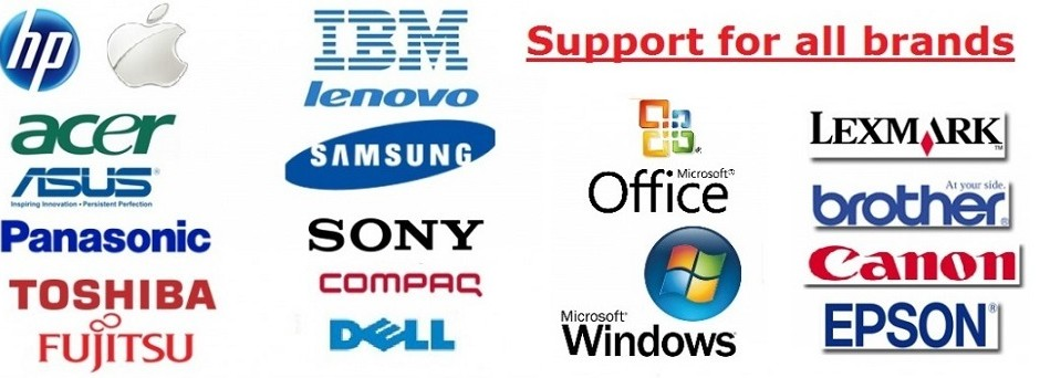 We provide support for all Brands
