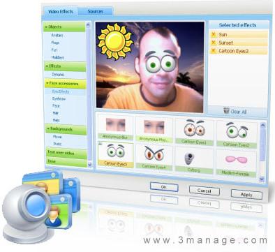 عکس نرم افزار وب کم مجازی manycam