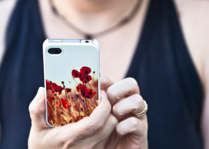 Poppy iPhone 4 case 300x214 Poppy iPhone 4 Case