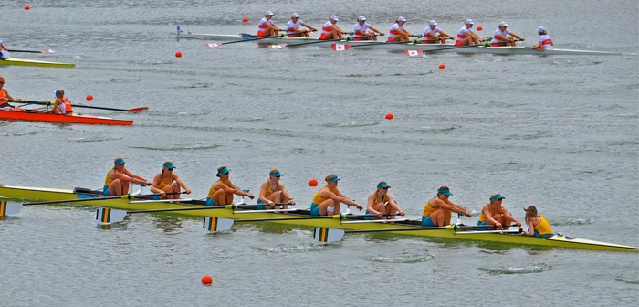 Womens VIII at Eton Dorney during the London Olympics