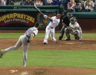 Phillies outfielder hits first career home run in 1,466th at-bat