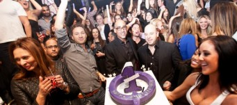 Marquee partners Jason Strauss, Louis Abin, and Noah Tepperberg celebrate the club's one year anniversary.