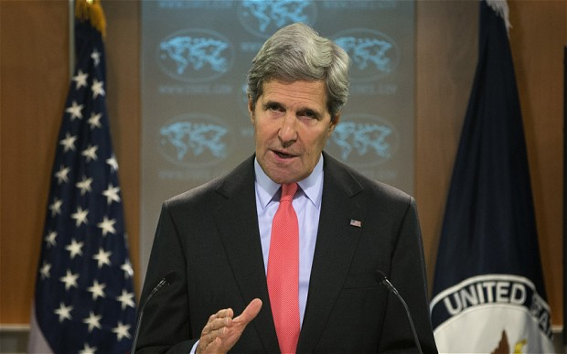 Secretary of State John Kerry gives a statement on the ongoing situation in Egypt at the State Department in Washington.