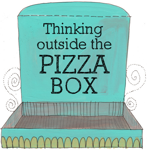 Pizza Box (with text)