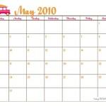 {Free Printable} Vintage Surf May 2010 Calendar!