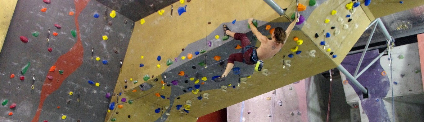 A little bit of lead climbing to go with the bouldering, top-roping and Schmooling!