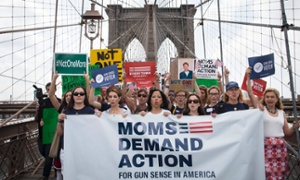 Gun control groups march across Brooklyn Bridge to demand action