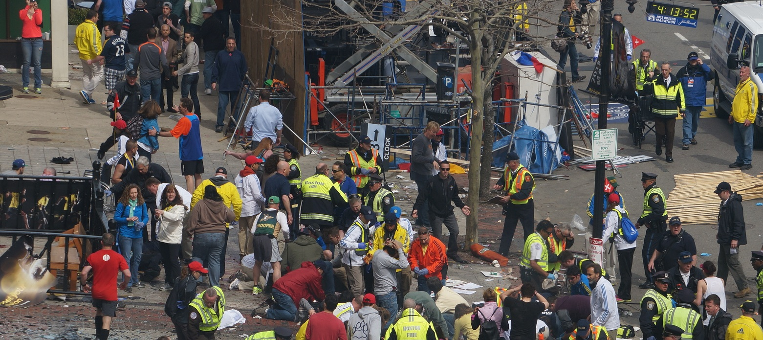 Boston Marathon first explosion hahatango Zahirs-crop for Superhero Cowboy t04-13-52 e04m08s d02-54-06 F31 Cowboy adjusting hat for his grand entrance