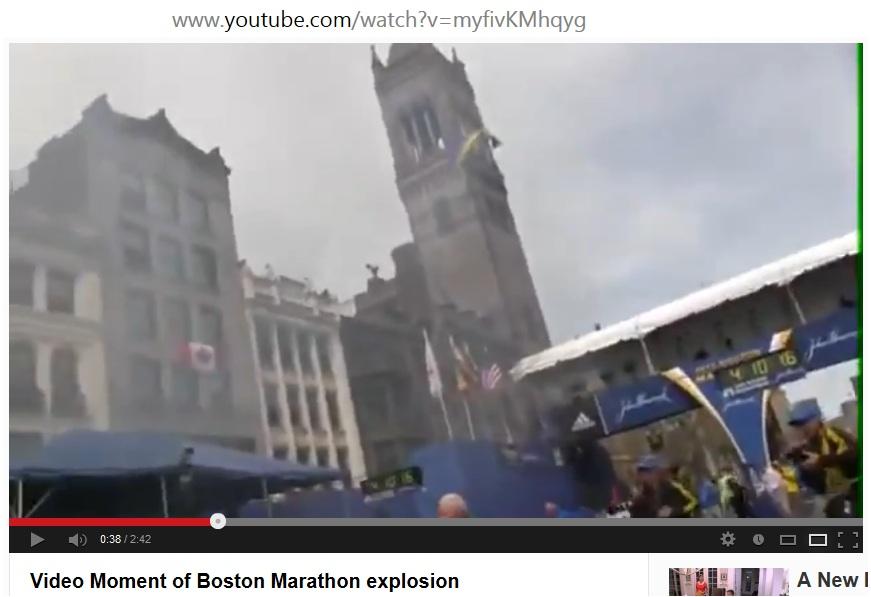 Video Image Explosion at Boston Marathon F4 Race Clock v00-00-38 t04-10-16