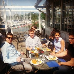 Nice lunch break with the Zervant Crew  #lunchbreak #seaside #ordnung #muss #sein