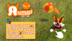 Screenshot of the first game in the series of Gbanga Animals: Reed