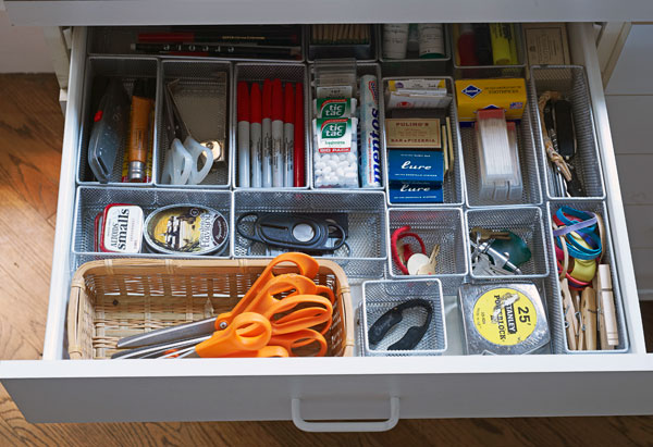junk drawer oprah Solutions for Keeping Kitchen Counter Tops Clutter Free
