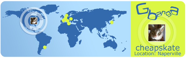 Around the World with Gbanga: cheapskate