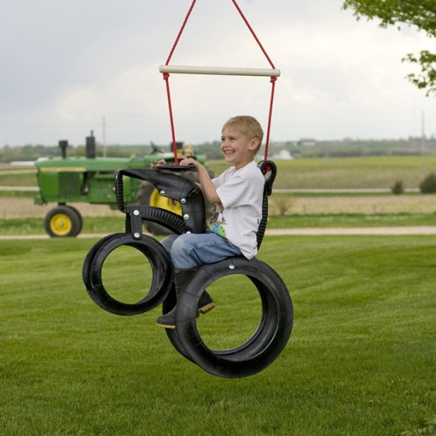 Garden, Inspiring Creative Tire Reuse Ideas For Kids Swing Picture: Appealing Reused Old Tires For Increasing The Uniqueness Of Your Home