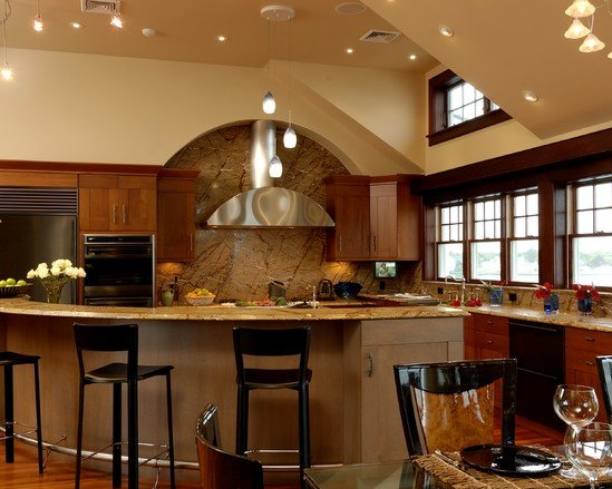 Kitchen, Kitchen Islands Rooms Home With Wood Kitchen Furniture And Kitchen Lighting: Inspiring Kitchen Island MaterialsAnd Its Strength