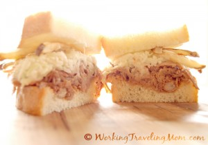 Pittsburgh style pulled pork sandwich