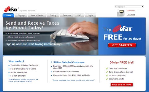 Send and Receive Faxes Over the Web