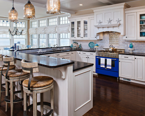 beach style kitchen Achieve Tranquility of the Coast in your Home