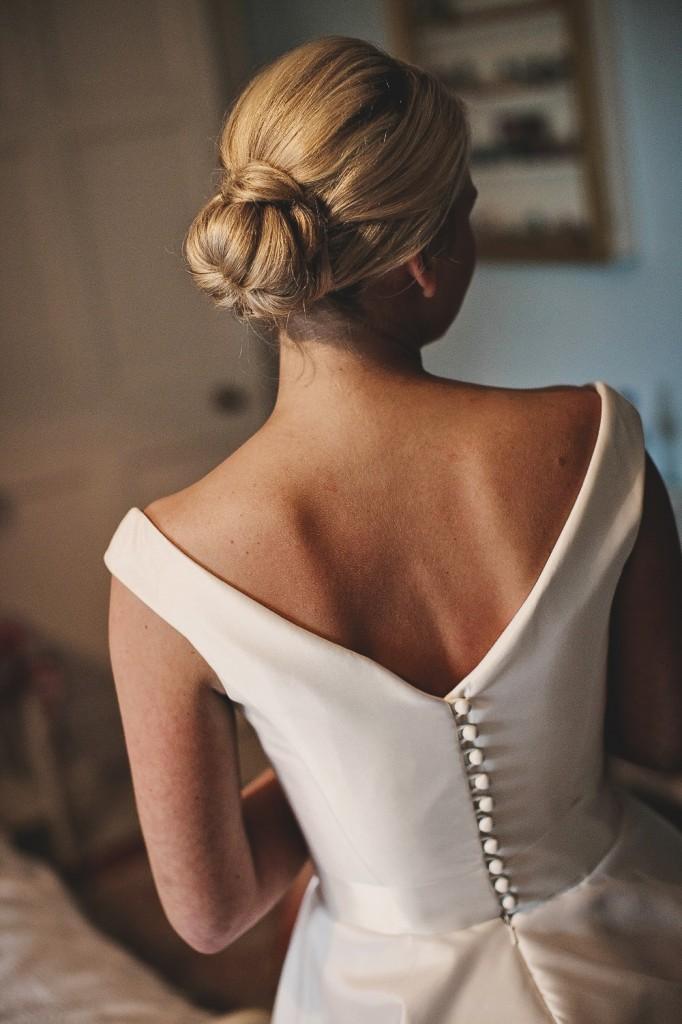 I love the back of Leanne's dress, so chic and her elegant up do.