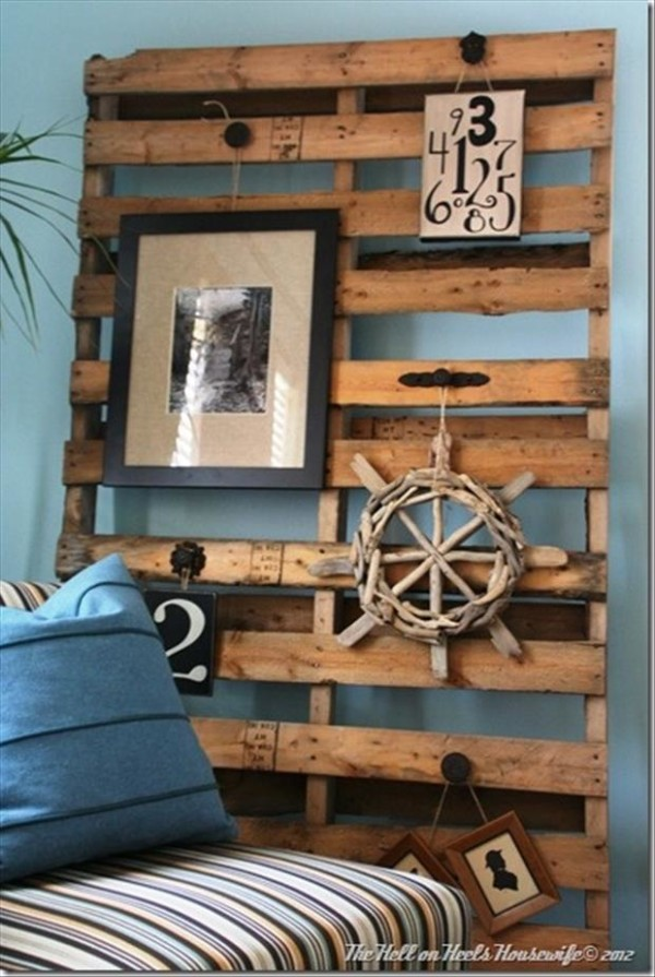 DIY Pallets Wall Art Ideas 4 600x895 Great Examples of Easy, Inexpensive DIY Wall Art