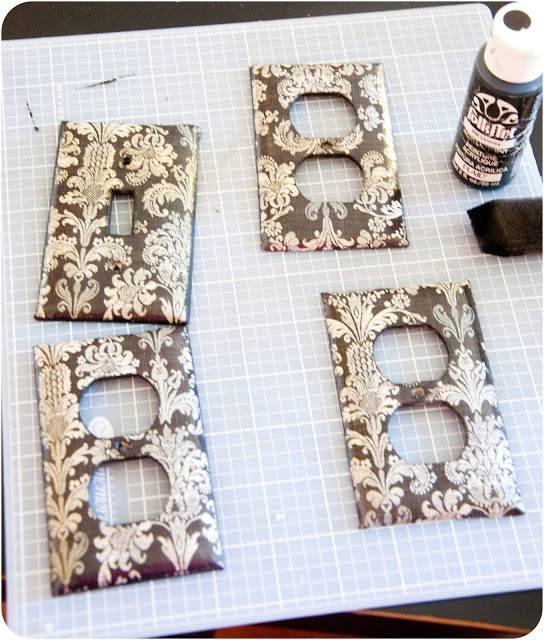 switch plates Favorite Decorative Uses with Scrapbook Paper