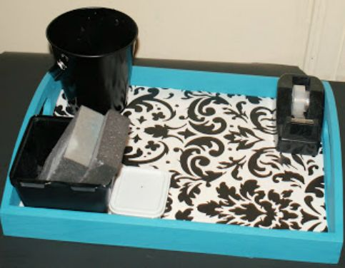 tray after41 Favorite Decorative Uses with Scrapbook Paper