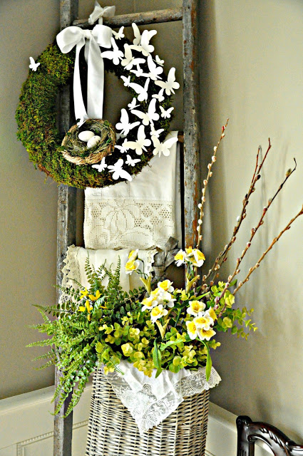 DIY Moss and Butterfly Wreath Tutorial 14 Spring Wreaths and Front Door Decor