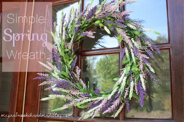 Simple Wreath for Spring Spring Wreaths and Front Door Decor